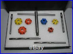 12 Pcs Carbide Tipped Valve Seat Cutter Kit Economical Valve Seat Restoration Sy