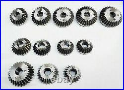 12 Piece Valve Seat Face Cutter Set Of 12 Pcs Carbon Steel In Metal Box Packing