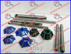 12x Valve Seat Cutter Kit Carbide Tipped With HSS Reamers Fast & Economical