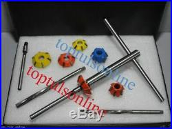 14 Pcs Valve Seat Cutter Kit Carbide Tipped With HSS Reamers Fast&Economical Sys
