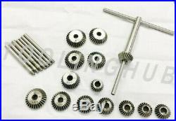 15 Piece Valve Seat & Face Cutter Set Of 15 Pcs Carbon Steel With Wooden Box