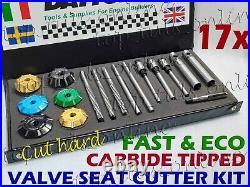 17x DAYTONA 3 ANGLE CUT TRIUMPH T120 BONNEVILLE HEADS VALVE SEAT CUTTER SET