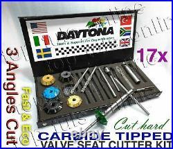 19x DAYTONA 4 Angle Cut Valve Seat Cutter Kit LS 1 GM 4.8L, 5.3L, 6.0L UPGRADE SET