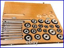 20 Pcs Valve Seat & Face Cutter Set For Vintage Cars & Bikes wooden box