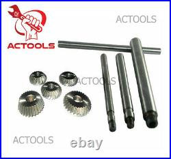 20 Piece Valve Seat & Face Cutter Set Of 20 Pcs Carbon Steel With Metal Box ACT