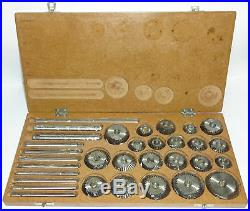 20 Pieces Of Valve Seat & Face Cutter Set +Wooden Box