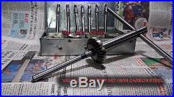 21 pcs HIGH CARBON STEEL VALVE SEAT CUTTER SET + 8 STEMS + 2 ARBOR + 2 RODS