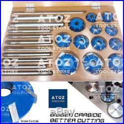 23 Pcs Set Carbide Tipped Valve Seat 12 Cutters 45-30-20 Deg for VINTAGE TRUCKS