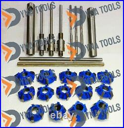 24x Carbide Tipped Valve Seat Cutter Set For Motorcycles With Reamers & Guides