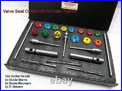 24x VALVE SEAT CUTTER KIT CARBIDE TIPPED WITH 3 STEMS + 3 REMR+2 DRV ARBOURS