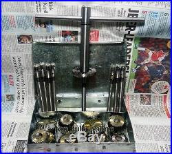 24x VALVE SEAT CUTTER TOOL KIT HIGH CARBON STEEL 12 CTR + 8 STEMS +2 ARBOR+ RODS