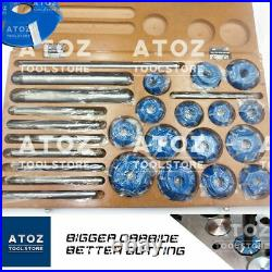 26 Pcs Set Hardened Valve Seat Face 15 Cutters 30 45 70 (20 Deg) PREMIUM ATOZ