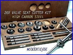 26x HIGH CARBON STEEL VALVE SEAT CUTTER HEADS CLASSIC ENGINE HEADS RESTORATION
