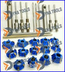 27x Motorcycles Valve Seat Cutting kit 5x GUIDE STEMS 4,4.5,5,5.5,6 mm