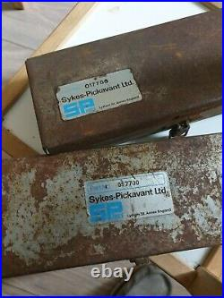 2 SETS OF VINTAGE SYKES PICKAVANT VALVE SEAT CUTTER SETS No 017700