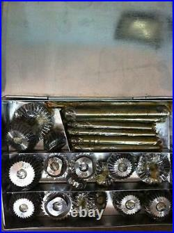 31 Pcs Valve Seat Cutter Set High Carbon Steel 21 Ctr + 8 Stems +2 Arbr+ Rods