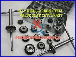 33 Pcs Valve Seat Cutter Set High Carbon Steel 1.1/8 To 2.1/8 45 Deg