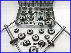 33x VALVE SEAT CUTTER SET HIGH CARBON STEEL 1.3/16 TO 2.1/8 45 + 30+70 DEGREE
