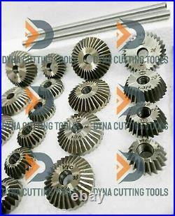 33x VALVE SEAT CUTTER SET HIGH CARBON STEEL 1.3/16 TO 2.1/8 45 + 30 +70 Degree