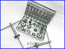 34x VALVE SEAT CUTTER SET HIGH CARBON STEEL VINTAGE HEADS CARS, MOTORCYCLES, BOAT