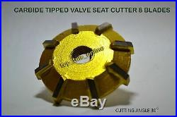 38x Valve Seat Cutter kit Carbide Tipped 3 Angle Cut Performance Race Heads