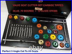 3 Angle Cut Valve Seat Cutter Set Carbide Tipped Chrysler, Ford, Cheverlet, Oldsmob