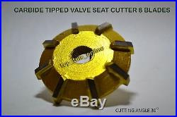 3 Angle Cut Valve Seat Cutter kit Carbide Tipped 30,45,70 Deg Performance Boostr