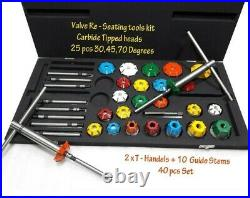 40x VALVE SEAT CUTTER KIT CARBIDE TIPPED FOR VINTAGE AND MODERN ENGINES BOXED