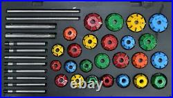40x VALVE SEAT CUTTER KIT CARBIDE TIPPED NEW GENRATION DIESEL & PETROL ENGINES