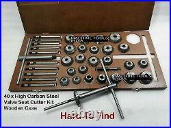 40x VALVE SEAT CUTTER KIT HIGH CARBON STEEL VINTAGE CAST IRON HEAD SEAT RESTORE