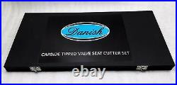 43x VALVE SEAT CUTTER SET CARBIDE TIPPED 27+10+2+2 TOTAL FOR CHRYSLER, GMC HEADS