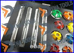 44x Valve Job Seat Cutter Set Carbide Tipped 3 Angle Cut For Performance Head