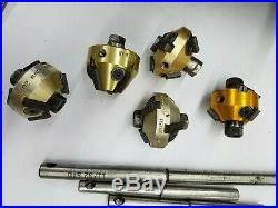 5 Cutters NEWAY Valve Seat Cutter Kit/set #102 #102A #102W #103 #114 case handle