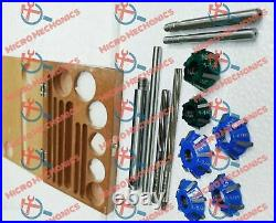 6x Carbide Tipped Valve Seat Cutter Kit + 2 STEMS + 2 REAMERS + ARBOR + ROD