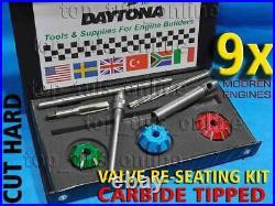 9x DAYTONA VALVE SEAT CUTTER SET CARBIDE FORD LINCOLN Y-BLOCK V8 ENGINE BIG BLK