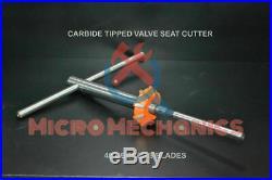 BRAND NEW CARBIDE TIPPED VALVE SEAT CUTTER 40MM 45 DEG + guide stem 11/32