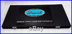 Brand New Carbide Tipped Valve Seat Cutters 40 Pc Tool Kit Optimum For Hardseat