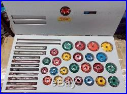 CARBIDE TIPPED VALVE SEAT CUTTERS SET 25 pcs FOR VINTAGE AND MODREN ENGINES TOOL