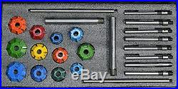 Carbide Tipped Valve Seat Cutter Set 24 Pcs 1.1/4 To 1.17/8 45 + 30,70 Deg@$