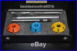 Carbide Tipped Valve Seat Cutter Set For M42b19 With 6mm Stm