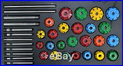 Carbide Tipped Valve Seat Cutter Set Of 25 Cutrs For Vintage Chevy, Ford, Chrycler