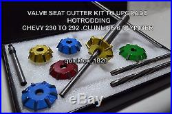 Carbide Tipped Valve Seat Cutters Kit For Chevy Upgrade To Hotrod In 6 Cly
