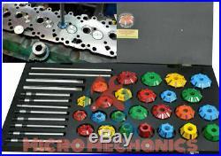 Economical Valve Seat Restoration Cutter Tool Kit Carbide Tipped 25 Mills + 8