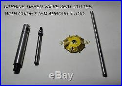 Fast & Economical Valve Seat Cutter Kit Carbide Tipped 3 HSS Reamers + 3 Guides