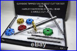 Harley Davidson Evo Twin Cam Heads Valve Seat Cutter Carbide Tipped