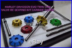 Harley Davidson Evo Twin Cam Valve Re-seating Kit Carbide Tipped Dhl Shipping