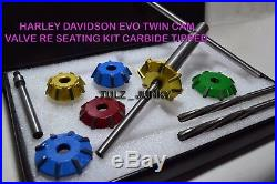 Harley Davidson Evo Twin Cam Valve Re-seating Kit Carbide Tipped Heads