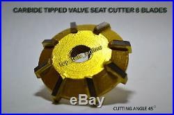 Harley Davidson Knucklehead Flathead 45 Valve Seat Cutter Kit Carbide Tipped