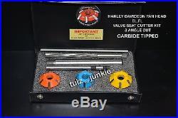 Harley Davidson Pan Head El, Fl Valve Seat Cutter Kit Carbide Tipped 1948-57
