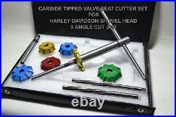 Harley Davidson Shovel Head Valve Seat Cutter Kit Carbide Tipped 3 Angle Cut